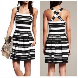 Banana Republic black/white stripe dress